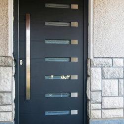 Modern Aluminum Front Entry Door - Modern aluminum entry door.
