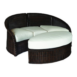 Frontgate - Sedona Outdoor Daybed Outdoor Ottoman with Cushions - Ideal for any environment, including oceanfront and saltwater destinations. High-quality resin wicker is specially formulated with high UV resistance to prevent fading. Marine grade aluminum frame is resistant to corrosion. Generously proportioned durable aluminum frame accommodates a plush outdoor cushion for supreme comfort. Black Walnut or Weathered finish. The Sedona Daybed Ottoman by Summer Classics&reg is the perfect complement to the luxurious Sedona Daybed. The expertly hand woven, thick high-quality all-weather resin wicker is specially treated to withstand intense heat and provide resistance to fading. This innovative material combined with an all aluminum frame creates the perfect outdoor furnishing for any open air setting, including beach and salt water environments. The all-weather cushions are offered in a variety of exclusively designed and colored fabrics including Sunbrella&reg solution-dyed acrylics. Part of the Sedona by Summer Classics&reg Collection. . .  . . . Included cushion offered in an assortment of 100% solution-dyed acrylic fabric, including Sunbrella. Note: Due to the custom-made nature of the cushions, any fabric changes or cancellations made to Sedona Collection by Summer Classics&reg must be made within 24 hours of ordering.
