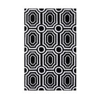 """Surya - Surya Hudson Park HDP-2010 (Jet Black, White) 5' x 7'6"""" Rug - With contemporary color scheme, Surya's Hudson Park collection is a unique blend of chic area rugs. Designed by Angelo Surmelis and hand-tufted in China this area rug is sure to be a great accent piece for any casual or formal area."""