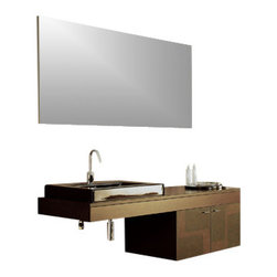 Iotti - 55 Inch Bathroom Vanity Set - Ultra high fashion and geometric touches give this deluxe vanity set a stunning look over solid construction.