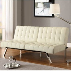 Ameriwood Emily Convertible Futon Vanilla From