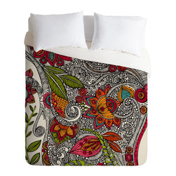 DENY Designs - Valentina Ramos Random Flowers Duvet Cover - Turn your basic, boring down comforter into the super stylish focal point of your bedroom. Our Luxe Duvet is made from a heavy-weight luxurious woven polyester with a 50% cotton/50% polyester cream bottom. It also includes a hidden zipper with interior corner ties to secure your comforter. it's comfy, fade-resistant, and custom printed for each and every customer.