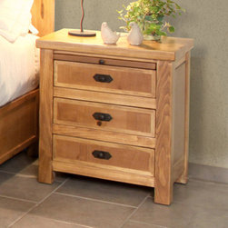 Artisan Home Furniture - Artisan Home Lodge 100 3 Drawer Nightstand w/ Tray - Cottonwood and Alder give this Bedroom Collection additional strength  durability and beauty. Wood tone lacquer coating gives depth  color and clarity to this outstanding bedroom. Dovetail hardwood drawers provide additional strength. All drawers feature full extension glides for easy operation. Enjoy casual elegance every night with your own Lodge Bedroom  a mountain retreat atmosphere in your home.