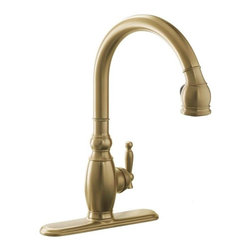 KOHLER - KOHLER K-690-BV Vinnata Single-Control Pull-Down Kitchen Sink Faucet - KOHLER K-690-BV Vinnata Single-Control Pull-Down Kitchen Sink Faucet in Brushed Bronze