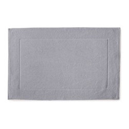 "Serena & Lily - Textured Cotton Bath Mat Dove Grey (17x24"") - Loops of comfy cotton create a great texture that our feet (and eyes) can't get enough of. Thick and absorbent, it's heavenly for the bath and a great new basic."