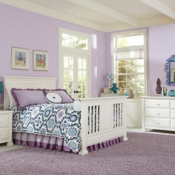 Nottingham Crib converted into Toddler Bed - • The Nottingham crib is a solid panel headboard crib that converts to a Toddler bed, a Full bed or Queen bed!