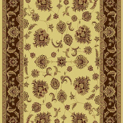 "Dynamic Rugs - Dynamic Rugs Rug, Cream, 2'x3' 6"" - The Legacy Collection by Dynamic Rugs features persian styled rugs with 800,000 points with traditional colors."
