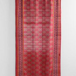 Magical Thinking Silk Sari Curtain, Red - I love these rich curtains made from actual Indian sari materials.