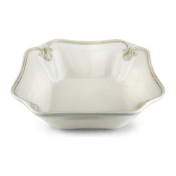 Lenox - Lenox 'Butler's Pantry' Square Serving Bowl - With its fleur-de-lis motif,this uniquely-shaped Butlers Pantry serving bowl actually becomes an octagon. The white-bodied bowl will complement virtually any table decor.