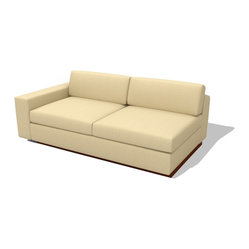 True Modern - Jackson Sofa with One-Arm Sofa - This one-armed sofa is the ideal addition to your odd-shaped living room or office. It gives you just enough seating room and comfort without taking up too much space. Pick from 12 upholstery colors and start rearranging the furniture right away!