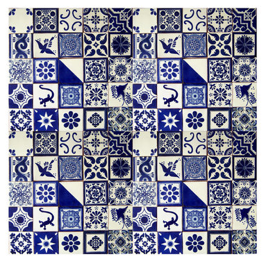 Casa Daya Tile - 100 Hand Painted Made to Order  Talavera Mexican Tiles - The styles are influenced by the beautiful Spanish architecture in the Guanajauto state of Mexico from the time the Spanish inhabited the area starting in the 1520's.