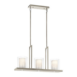 Kichler - Kichler 42547CLP Triad Classic Pewter 3 Light Chandelier - Finish: Classic Pewter