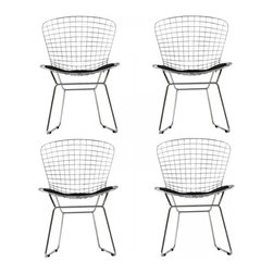 Modway Imports - Modway EEI-926-BLK CAD Dining Chairs Set of 4 In Black - Modway EEI-926-BLK CAD Dining Chairs Set of 4 In Black