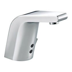"""Kohler - Kohler K-13461-CP Polished Chrome Touchless Touchless Single Hole - Product Features:Fully covered under Kohler s limited lifetime faucet warrantyFaucet body constructed of solid brassKohler finishes resist corrosion and tarnishing - exceeding industry standards for durabilityFeaturing an adaptive infrared sensor that gathers and analyzes the surrounding area upon installationAfter recording area details faucet calibrates to reduce false starts and optimize operationTouchless DC-powered, motion activated operationDrain assembly not included with this model - must be ordered separatelyADA compliantLow lead compliant - meeting federal and state regulations for lead contentDesigned for use with standard U.S. plumbing connectionsWaterSense-labeled product - uses at least 30% less water than standard 2.2 GPM faucets, while still meeting strict performance guidelinesFeatures and extra-secure mounting assemblyAll hardware needed for mounting is includedProduct Technologies / Benefits:WaterSense/Eco-Performance: To help make a difference on a global scale and further its role as industry leaders in eco-performance practices, Kohler has established partnerships with a number of environmental organizations, including WaterSense. Many Kohler faucets are equipped with low-flow aerators; meaning they use less water, while continuing to meet superior performance standards. Product Specifications:Overall Height: 6-1/8"""" (measured from the counter top to the highest part of the faucet)Spout Height: 4-7/8"""" (measured from the counter top to the spout s outlet)Spout Reach: 5-3/4"""" (measured from the center of the faucet base to the center of the spout s outlet)Faucet mounts in a single hole configurationNumber of Holes Required for Installation: 1Flow Rate: 0.5 GPM (gallon"""
