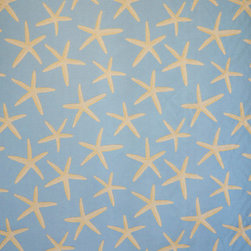 Blue starfish fabric sea star upholstery pastel - A star fish fabric. A light blue upholstery weight fabric with sea stars!