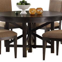 Liberty Furniture Visions 72x54 Oval Dining Table in Mocha, Dark Wood