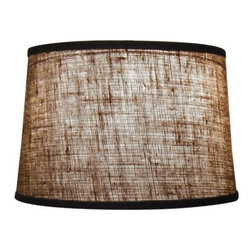 """Mathews & Company - Burlap 13"""" Drum Table Lamp Shade - Our Rustic style Burlap 13"""" Drum Table Lamp Shade is a beautiful piece of hand-crafted accent for any lamp base."""