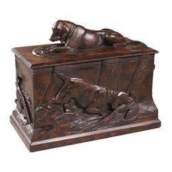 EuroLux Home - Box Sporting Dog Dogs Cast Resin Relief - Product Details