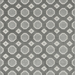 """Loloi Rugs - Loloi Rugs Oasis Collection - Grey / Ivory, 9'-2"""" x 12'-1"""" - Boldly designed and brightly colored, our Oasis Collection transforms any outdoor space into a modern patio paradise. This collection is power loomed in Egypt, ensuring precision in color and design for each and every piece. And because the 100% polypropylene yarns are specially tested to withstand UV rays and rain, it's the perfect all-weather rug."""