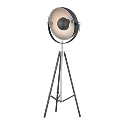 "Dimond Lamps - Back Stage Light Floor Lamp - Height: Min:61"" Ext:63"""