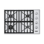 "Viking Professional 30"" Gas Cooktop, Stainless Liquid Propane 