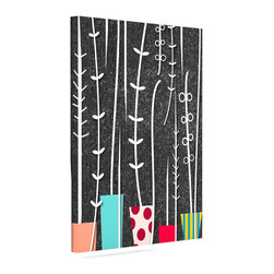 """Kess InHouse - Danny Ivan """"Wild Plants"""" Black White Wrapped Art Canvas (8"""" x 10"""") - Bring your outdoor patio to life with this artistic outdoor canvas wrap featuring gorgeous artwork by KESS InHouse. These canvases are not only easy to hang and remove but also are the perfect addition to your patio collection. These canvases are stretched around a wooden frame and are built to withstand the elements and still look artistically fabulous. Decorating your patio and walls with these prints will add the splash of art and color that is needed to bring your patio collection together! With so many size options and artwork to choose from, there is no way to go wrong with these KESS Canvas Wraps!"""