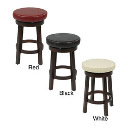 Office Star Products - Office Star Products Round leatherette Bar Stool - Traditional and contemporary appeal shine through this intelligently constructed bar stool with a high density padded seat upholstered with leatherette. Durable and stylish,this stool includes a circular foot rest for maximum comfort.