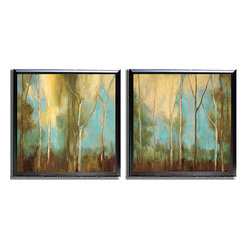 None - Kristi Mitchell 'Bare Trees' 2-piece Framed Canvas - Artist: Kristi Mitchell Title: Bare Trees 2pc Set Product type: Framed, canvas set