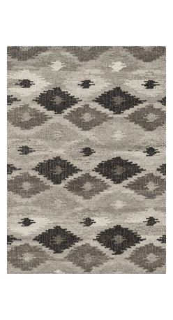 """Loloi Rugs - Loloi Rugs Akina Collection - Grey / Charcoal, 9'-3"""" x 13' - Hand woven in India, the Akina Collection sets a rugged and worldly foundation. Each piece is deliberately crafted with textural highs and lows, accentuating the all-over geometric pattern. And because Akina is woven of 100% wool, each piece is naturally durable and fitting for your most high traffic room."""