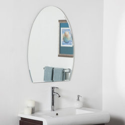 Decor Wonderland - Sena Modern Bathroom Wall Mirror - 24W x 32H in. Multicolor - SSM209 - Shop for Bathroom Mirrors from Hayneedle.com! The Sena Modern Bathroom Wall Mirror - 24W x 32H in. is a frameless wall mirror with a charming oval shape and outstanding half-inch beveled edge. The mirror also boasts a twice-coated silver backing with seams and an invisible mounting system that keeps the reflective surface flush with the wall for a more attractive presentation. About Decor Wonderland of USDecor Wonderland US sells a variety of living room and bedroom furniture mirrors lamps home office necessities and decorative accessories. Decor Wonderland strives to add variety to their selection so that every home is beautifully and perfectly decorated to suit their customer's unique tastes.