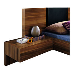 Rossetto - Rossetto Gap Night Stands in Walnut (Set of 2) - Rossetto - Nightstands - T304501000001 - Additional storage for personal items. The Gap night stand provides adequate storage while accenting the appeal of the room.