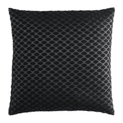 Textured-Weave Cushion Cover, Black - I might have a slight obsession with trendy throw pillows. If you've made the commitment to a couch or chair with classic lines, a throw pillow can dress it up and make it fun. This sophisticated black one is just what you need.