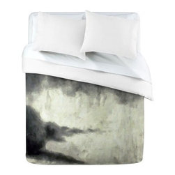 DENY Designs Conor ODonnell E1 Duvet Cover - If you dream in black and white, the DENY Designs Conor ODonnell E1 Duvet Cover is how dreams are made. The watercolor feeling of this cover gives a relaxing and artistic quality to your space. The varied shades of black and white make for a mottled color scheme that's sure to get you dreaming.Duvet Cover Dimensions:Twin: 88L x 68W inchesQueen: 88L x 88W inchesKing: 88L x 104W inchesAbout DENY DesignsDenver, Colorado based DENY Designs is a modern home furnishings company that believes in doing things differently. DENY encourages customers to make a personal statement with personal images or by selecting from the extensive gallery. The coolest part is that each purchase gives the super talented artists part of the proceeds. That allows DENY to support art communities all over the world while also spreading the creative love! Each DENY piece is custom created as it's ordered, instead of being held in a warehouse. A dye printing process is used to ensure colorfastness and durability that make these true heirloom pieces. From custom furniture pieces to textiles, everything they make is unique and distinctively DENY.