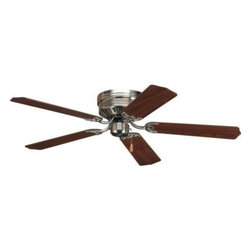 Progress Lighting - Indoor Ceiling Fans: Progress Lighting AirPro Hugger 52 in. Brushed Nickel Ceili - Shop for Lighting & Fans at The Home Depot. Hugger style housing permits fan installation on lower ceilings. Powerful AirPro motor features 3-speed, triple-capacitor control that can also be reversed to provide year-round comfort. Select from one of our stylish lighting options to full coordinate your decor.