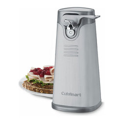 Cuisinart - Cuisinart SCO-60FR Stainless Steel Deluxe Can Opener (Refurbished) - Give your hands a break in the kitchen with this refurbished stainless-steel automatic can opener from Cuisinart. This convenient machine quickly removes the lids to cans of any size with a press-and-release lever that is easy to use.