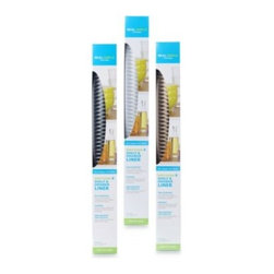 Real Simple - Real Simple  Easy-Clean Shelf & Drawer Liner - Real Simple Easy-Clean Shelf & Drawer Liners provide an easy-to-clean, multi-purpose surface that can be used in cabinets, drawers, cupboards or even in the refrigerator. Also helps line bathroom shelves.