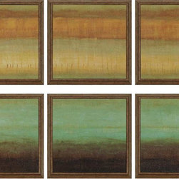 Paragon Decor - Layered Details Set of 6 Artwork - Prints are textured and dimensionally framed in gold finish molding.