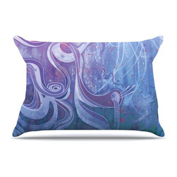 """Kess InHouse - Mat Miller """"Electric Dreams II"""" Pillow Case, King (36"""" x 20"""") - This pillowcase, is just as bunny soft as the Kess InHouse duvet. It's made of microfiber velvety fleece. This machine washable fleece pillow case is the perfect accent to any duvet. Be your Bed's Curator."""
