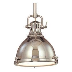 Nautical Pendant Light in Polished Nickel Finish -