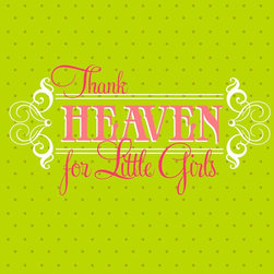 Murals Your Way - Thank Heaven for Little Girls Wall Art - Painted by Simon & Kabuki, Thank Heaven for Little Girls wall mural from Murals Your Way will add a distinctive touch to any room