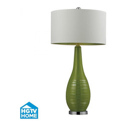 Dimond - One Light Lime Green With Silver Accents And Chrome Base  Table Lamp - One Light Lime Green With Silver Accents And Chrome Base  Table Lamp