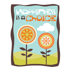 Murals Your Way - Happiness Is A Choice Wall Art - Painted by Valentina Ramos, the Happiness Is A Choice wall mural from Murals Your Way will add a distinctive touch to any room