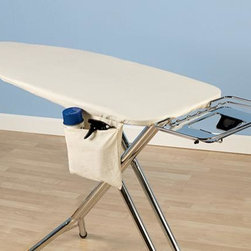 Home Decorators Collection - Deluxe Ironing Board Cover - With our one-piece cotton cover, you can instantly update your ironing board for a better ironing experience. With a tailored design and bungee cord binding, our cover will also fit securely to your ironing board. Includes bungee cord binding. Includes cotton cover and thick fiber pad. Tabletop and Over-the-Door are silicone-coated for stain resistance and durability. Wide ironing board includes a storage pocket that can be hidden. Wide ironing board cover features Nanomax™ technology making it stain, scorch and fade resistant, water and dirt repellant and economically friendly.