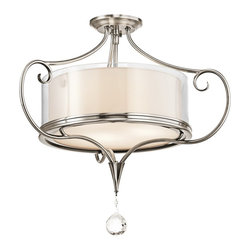 Kichler Lighting - Kichler Lighting 42866CLP Lara Traditional Semi Flush Mount Ceiling Light - Kichler Lighting 42866CLP Lara Traditional Semi Flush Mount Ceiling Light