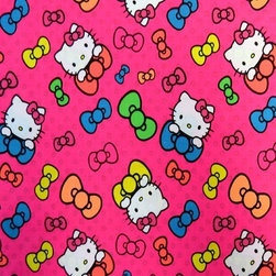 """SheetWorld - SheetWorld Fitted Crib / Toddler Sheet - Hello Kitty Bows - Made in USA - This 100% cotton """"woven"""" crib / toddler sheet features the one and only Hello Kitty! Our sheets are made of the highest quality fabric that's measured at a 280 tc. That means these sheets are soft and durable. Sheets are made with deep pockets and are elasticized around the entire edge which prevents it from slipping off the mattress, thereby keeping your baby safe. These sheets are so durable that they will last all through your baby's growing years. We're called SheetWorld because we produce the highest grade sheets on the market. Size: 28 x 52."""