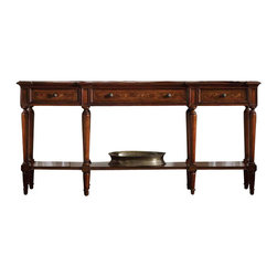 Hooker Furniture - Hooker Furniture Grandover Three Drawer Console Table - Hooker Furniture - Console Tables - 502985005 - Grandover is a high-drama European traditional collection updated for today with a modern outlook and functional details.