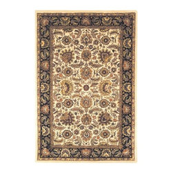 Safavieh - Safavieh Classic CL359E 5' x 8' Ivory, Navy Rug - In creating the Classic Collection, careful attention to each critical element of design, material, color, and workmanship was painstakingly undertaken to meet Safavieh's award winning standards. Some of the finest Persian and European exemplary designs are reinterpreted in the Classic Collection. The use of 100% pure premium wool and a luster wash gives the pile a plush, soft feel. Hand-tufted. Made in India.