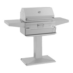 Fire Magic - Legacy 22SC01CP6 Patio Post Charcoal Grill with Smoker Oven/Hood - Legacy Patio Post Charcoal Grill with Smoker Oven/HoodCharcoal Post Series Features:All 304 Stainless Steel construction