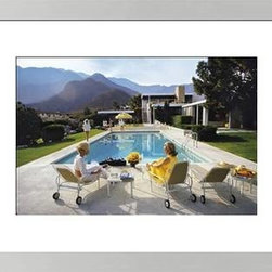 Photos.com by Getty Images - Poolside Glamour By Slim Aarons - A classic Slim Aarons mid-century photograph of Edgar J. Kaufmann's Palm Springs house designed by renowned modernist Architect, Richard Neutra. Actress Lita Baron approaches, while Nelda Linsk, wife of art dealer Joseph Linsk, talks to her friend, 1960's model Helen Dzo Dzo. January 1, 1970