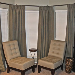 Residential interiors - Draperies with hardware furnished and installed by Kite's Interiors.
